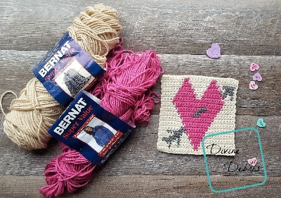"8"" Tapestry Heart Afghan Square crochet pattern by Divine Debris"