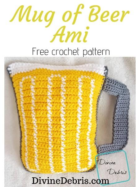 Mug of Beer Ami free crochet pattern by DivineDebris.com