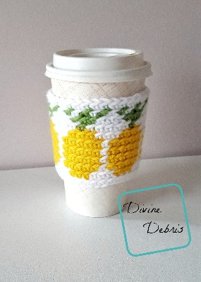 Pineapples Mug Cozy Free Crochet Pattern