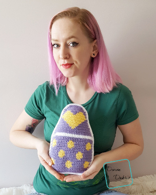 Squishy Easter Egg Ami free crochet pattern by Divine Debris