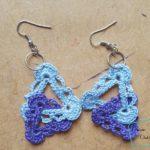Interlocking Triangles Earrings free crochet pattern by Divine Debris