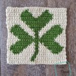"8"" Tapestry Shamrock Afghan Square crochet pattern by divinedebris.com"