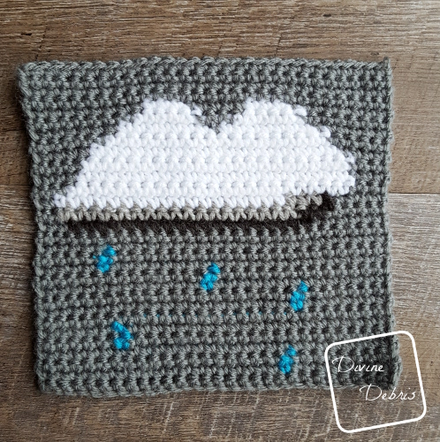 "8"" Tapestry Rain Cloud Afghan Square crochet pattern by divinedebris.com"