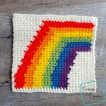 "8"" Tapestry Rainbow Afghan Square crochet pattern by divinedebris.com"