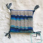 Lovely Ridges Pillow free crochet pattern by DivineDebris.com