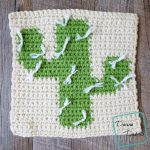 "8"" Tapestry Cactus Afghan Square free crochet pattern by divinedebris.com"