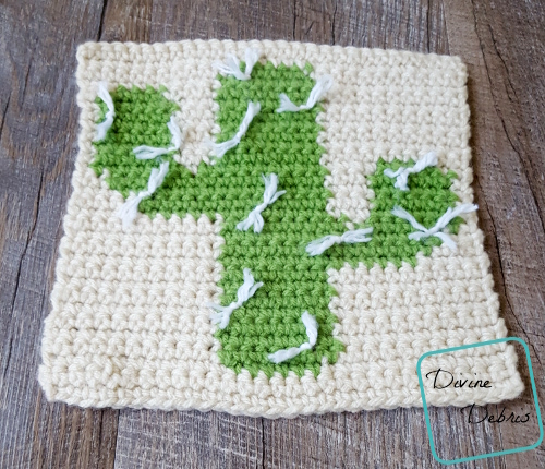 """8"""" Tapestry Cactus Afghan Square free crochet pattern by divinedebris.com"""