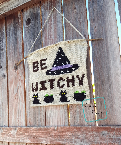 Be Witchy Wall-Hanging free crochet pattern by DivineDebris.com