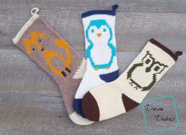 Cute Creatures Stockings crochet pattern giveaway