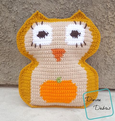 Pumpkin Belly Owl Amigurumi free crochet pattern by DivineDebris.com