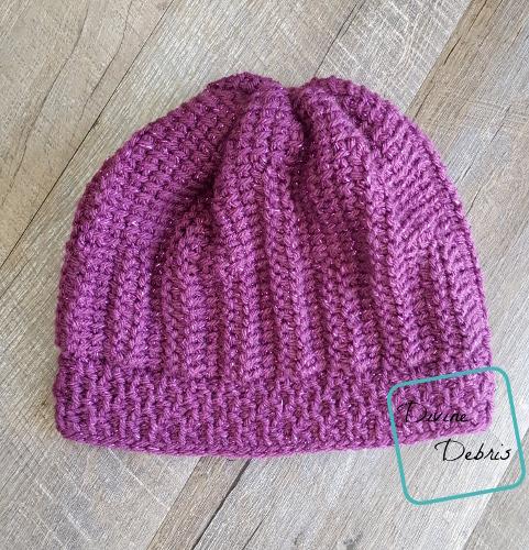 Tasha Tunisian Hat free crochet pattern by DivineDebris.com