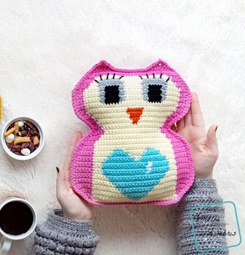 Heart Belly Owl Ami free crochet pattern by DivineDebris.com