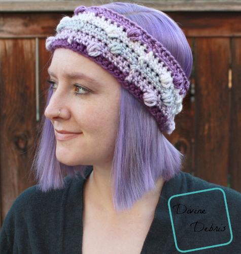 Kira Headband free crochet pattern by DivineDebris.com