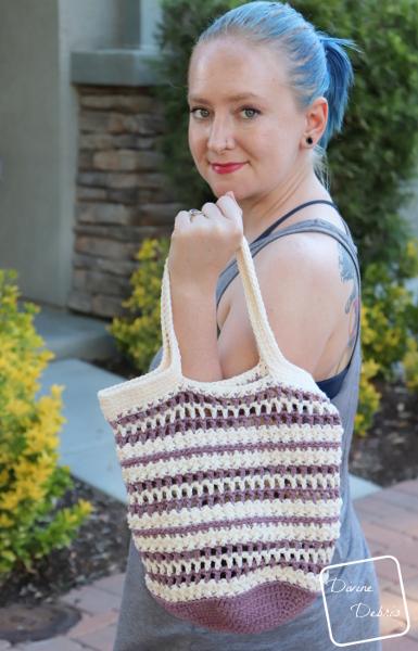 Diana Market Tote Bag crochet pattern by Divine Debris