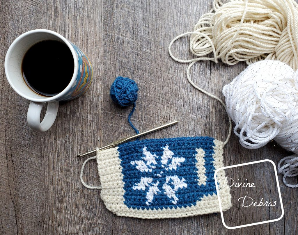8″ Tapestry Peppermint Latte Afghan Square a free crochet pattern by DivineDebris.com