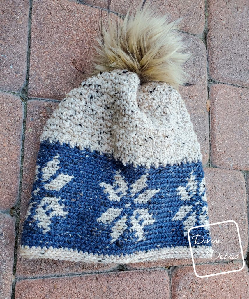 Dancing Snowflakes Beanie, a free crochet pattern by DivineDebris.com