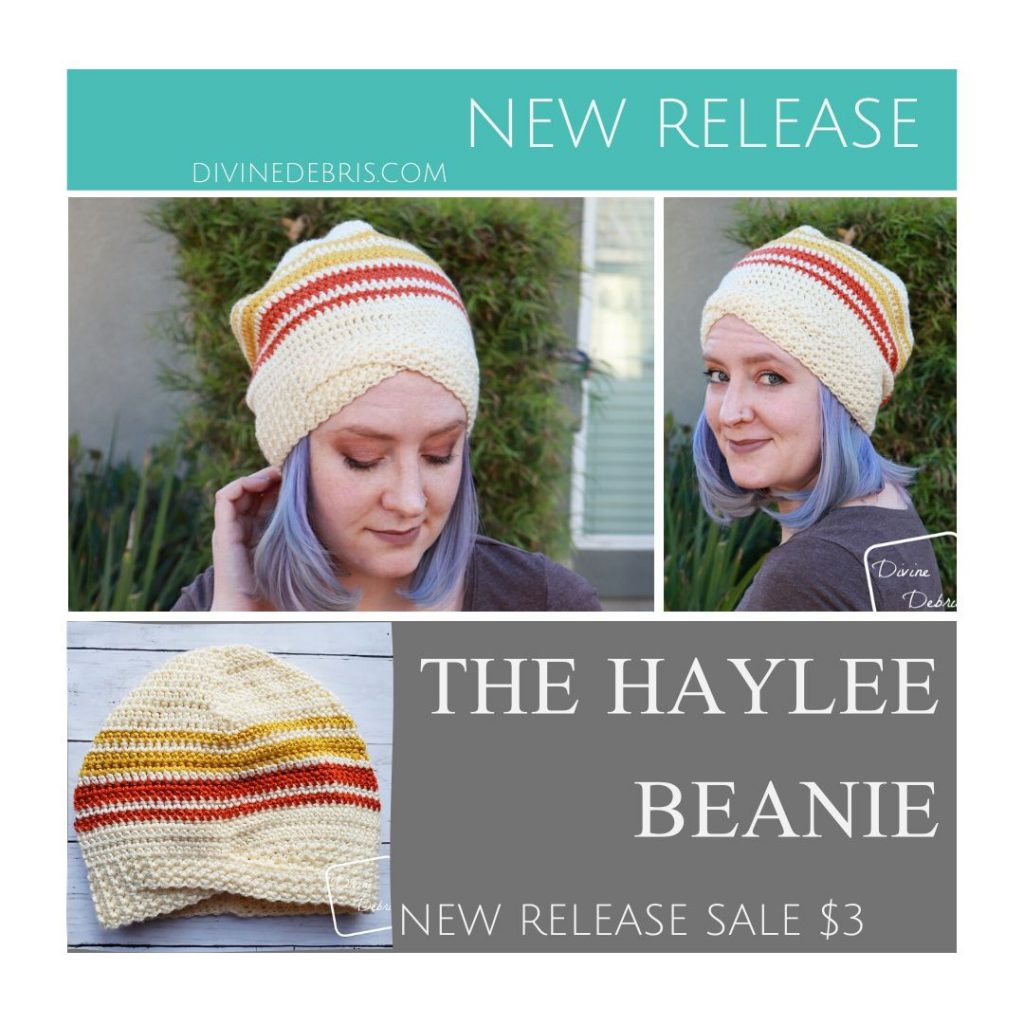 The Haylee Beanie, a new pattern by Divine Debris