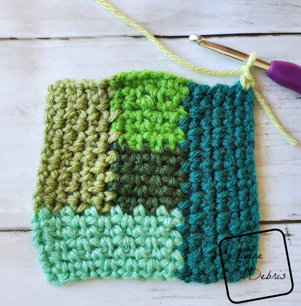 Linen Log Cabin Square: Where to start section 6 close up