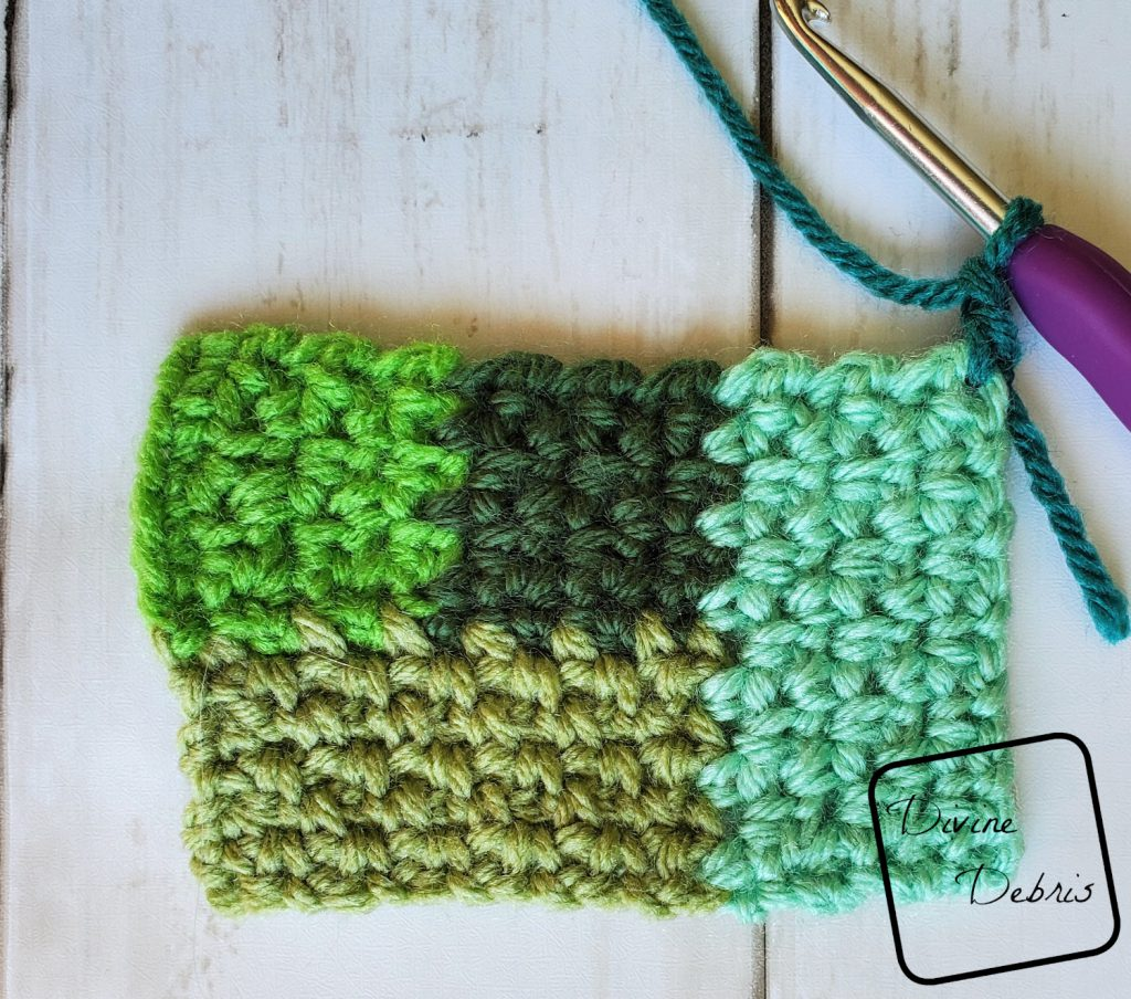 Linen Log Cabin Square: Where to start section 5 close up