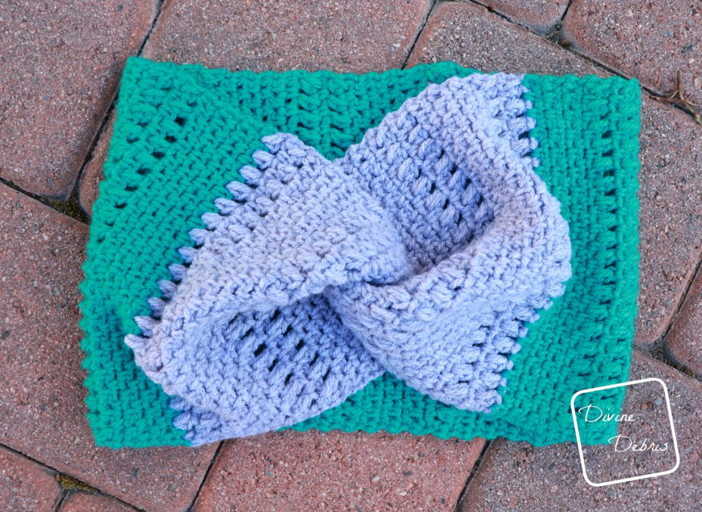 Whitney Cowl free crochet pattern on DivineDebris.com