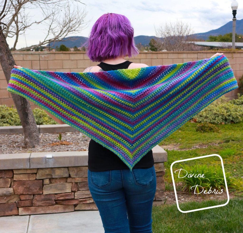Whitney Shawl free crochet pattern by DivineDebris.com